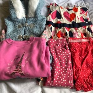 Girls 2T bundle of clothing - 6 pieces